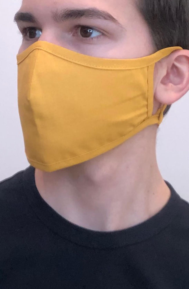 Mustard Active Fashion Face mask with filter - Thebritishmask