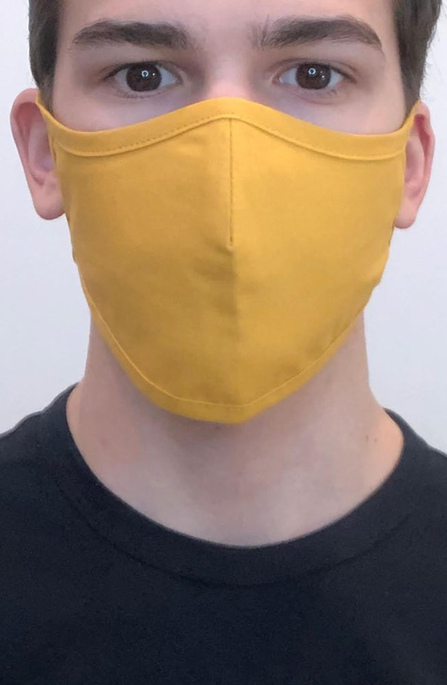 Mustard Active Fashion Face mask with filter