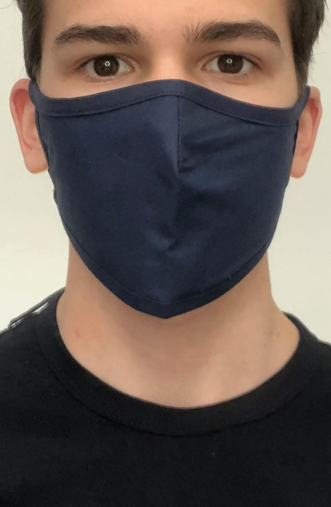Navy Active Fashion Face mask with filter