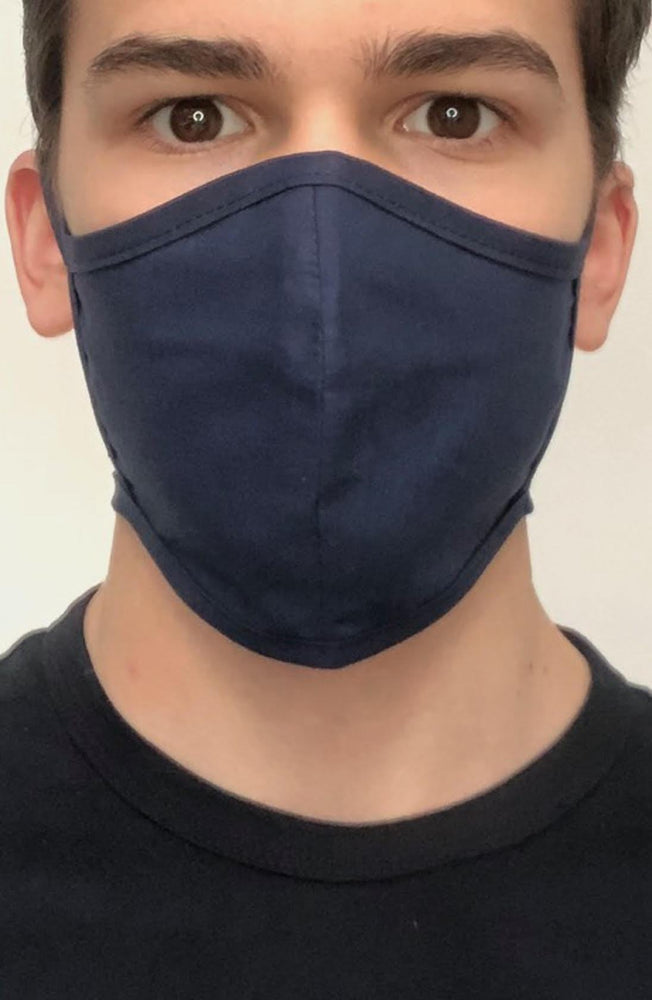 Navy Fitted Fashion Face mask with filter