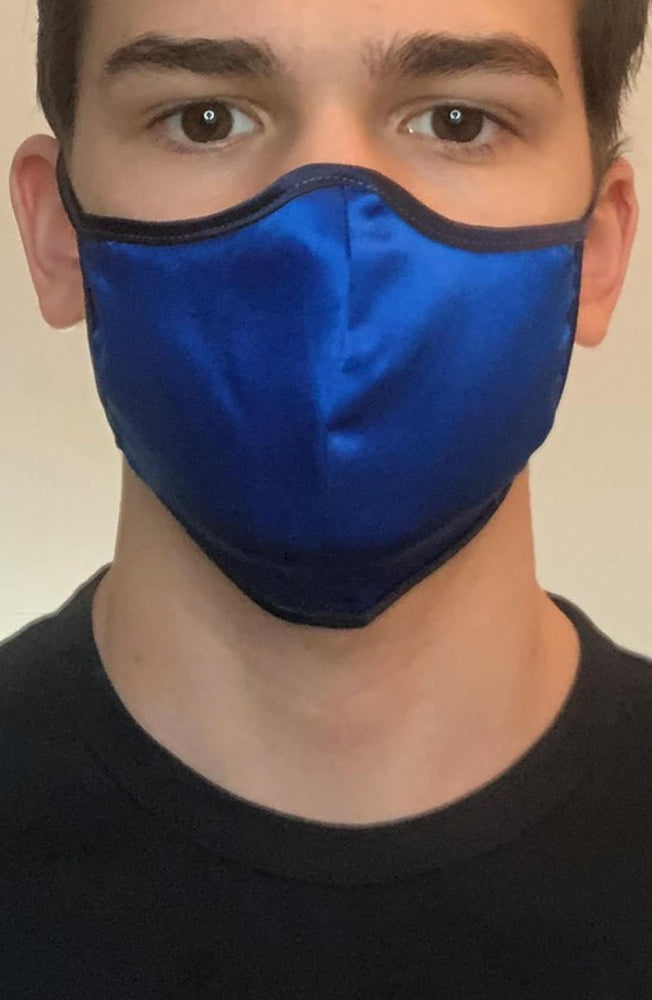 Ombre Blue Silk Fashion Face mask with filter - Thebritishmask