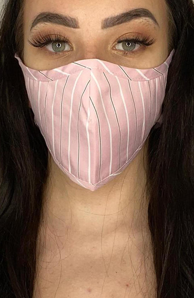 Pink Stripe Active Fashion Face mask with filter