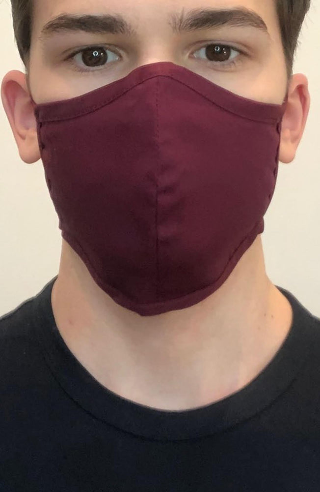Plum Fitted Fashion Face mask with filter