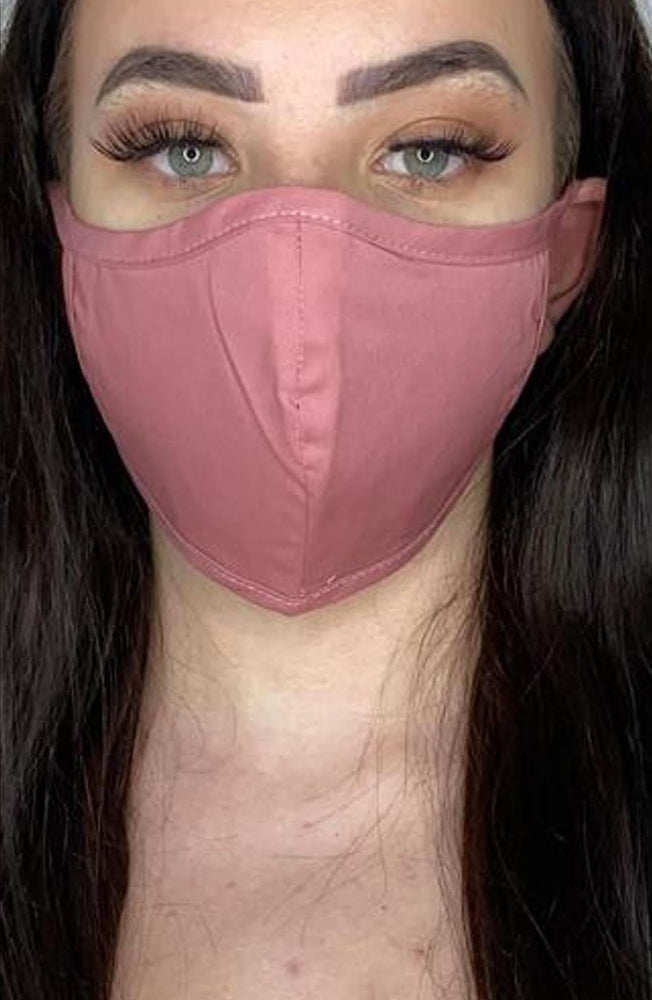 Rose Fitted Fashion Face mask with filter