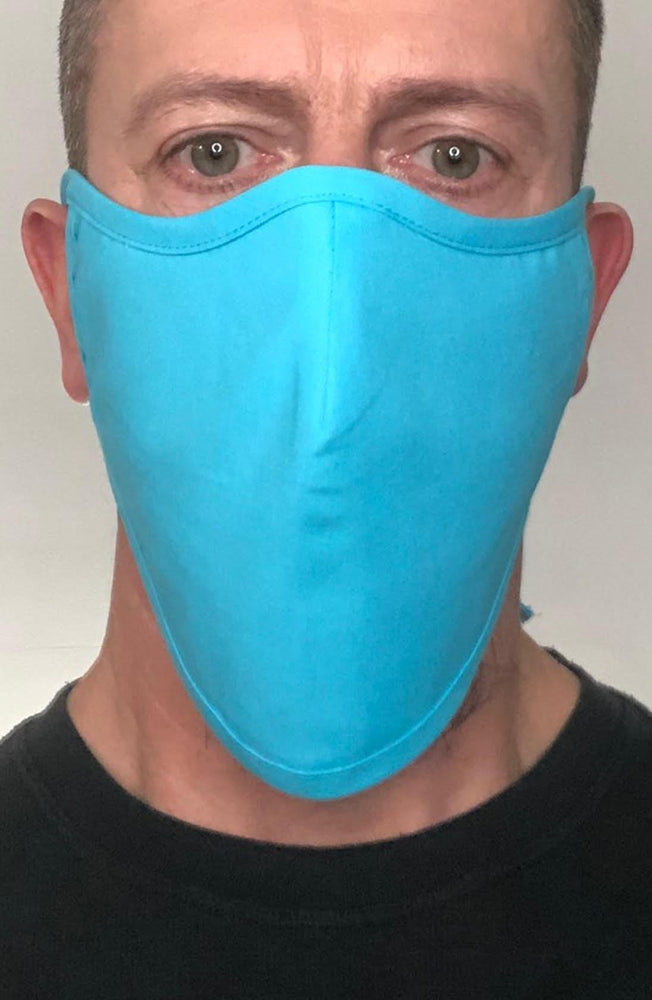 Turquoise Beard Longline Face mask with filter