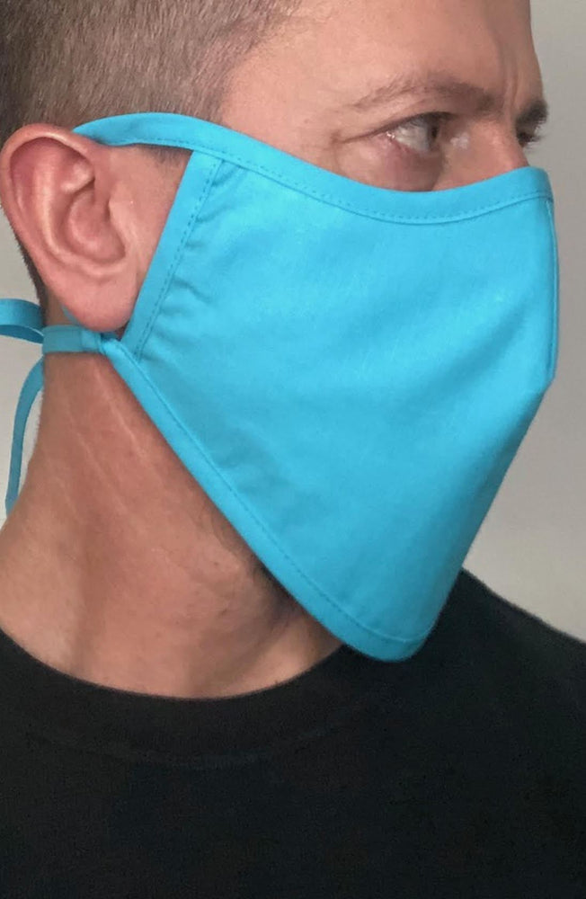 Turquoise Beard Longline Face mask with filter - Thebritishmask