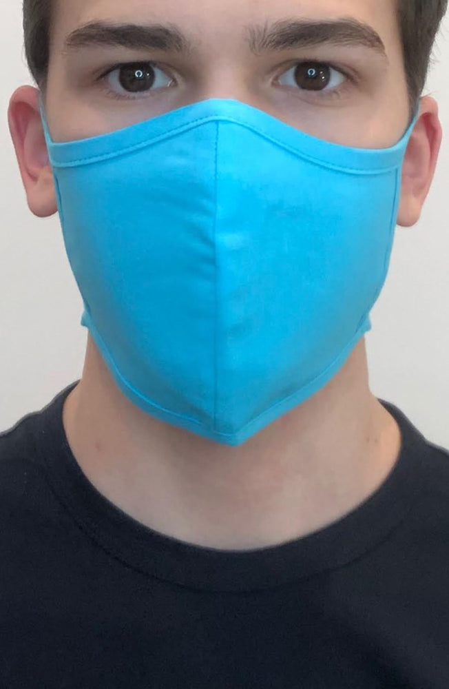Turquoise Fitted Fashion Face mask with filter - Thebritishmask