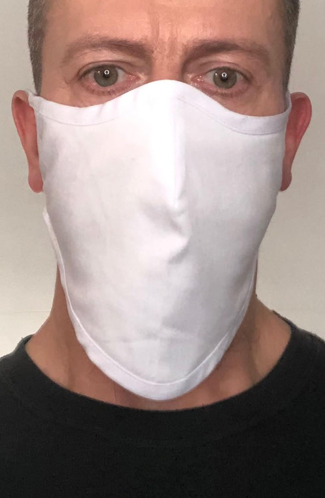 White Beard Longline Face mask with filter