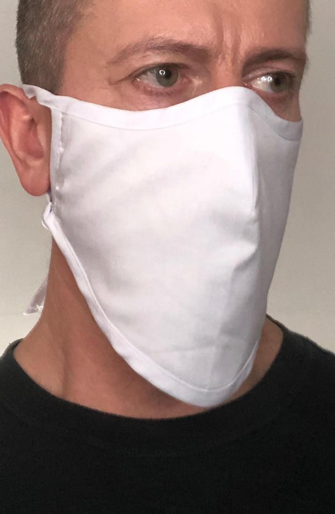 White Beard Longline Face mask with filter - Thebritishmask