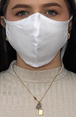 White Fitted Fashion Face mask with filter