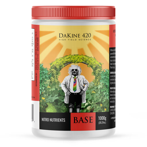 Nitro Nutrients BASE–carefully balanced NPK, plus trace minerals to meet all your cannabis plants' needs. Nitro Nutrients BASE provides the ideal ratios for maximum vegetative growth.