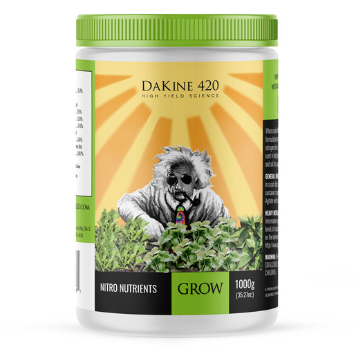 GROW makes your plants explode and thrive throughout the growing season. Grow is packed with Nitrate nitrogen, the most efficient nitrogen source for superior plant growth.