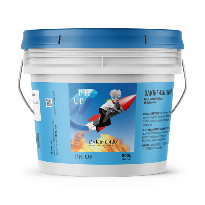 pH Up is derived from powdered potassium carbonate, our 0-0-60 100% soluble formula is a safe booster.