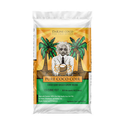 Pure Coco Coir is a soil-less coco coir-based grow medium made with Premium 100% pure, double-washed, high-quality coco coir pith.