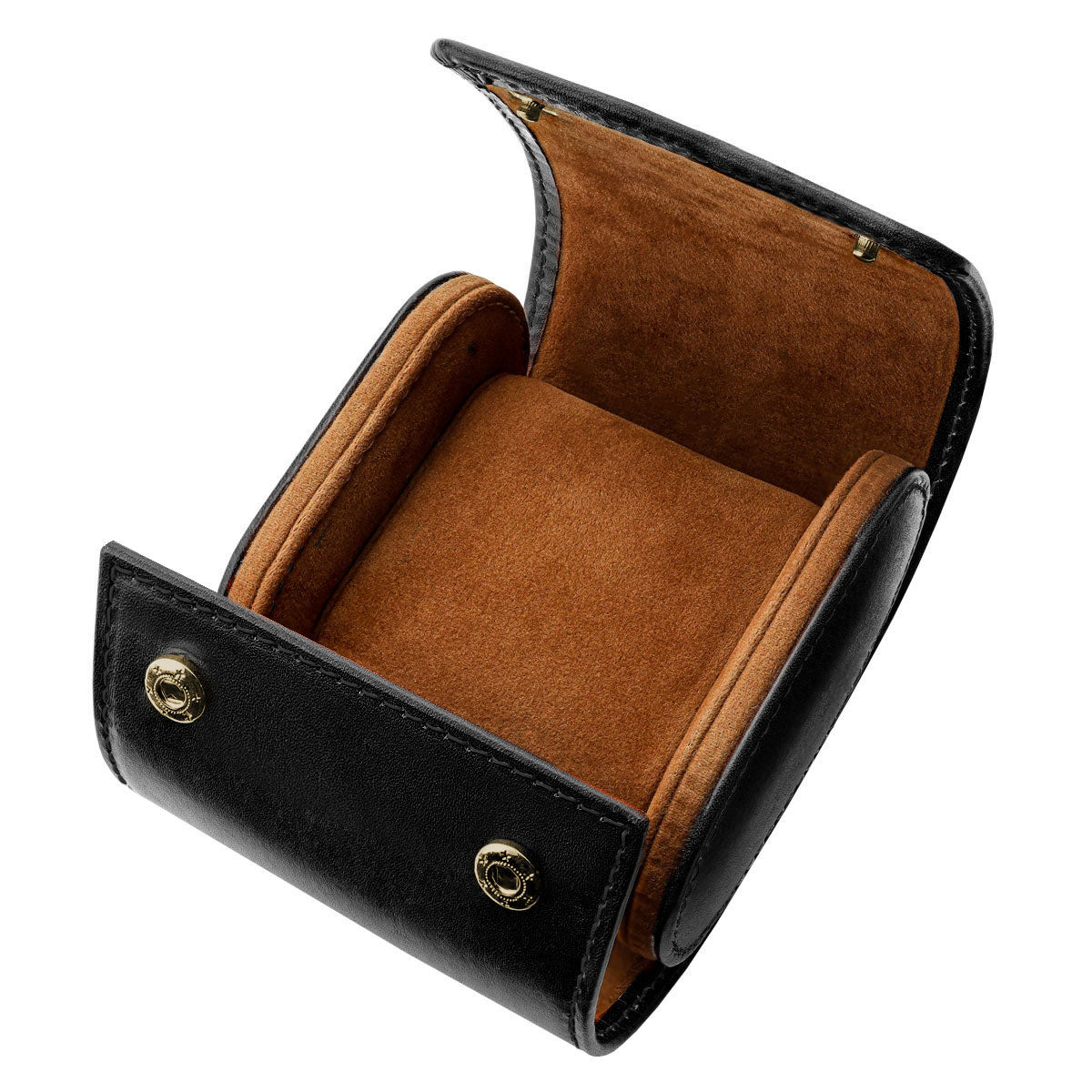 Genuine Leather Single Watch Case in Black and Brown