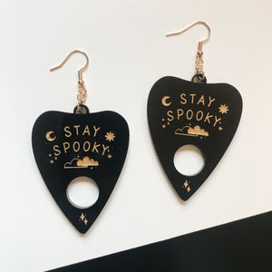 stay spooky planchette earrings