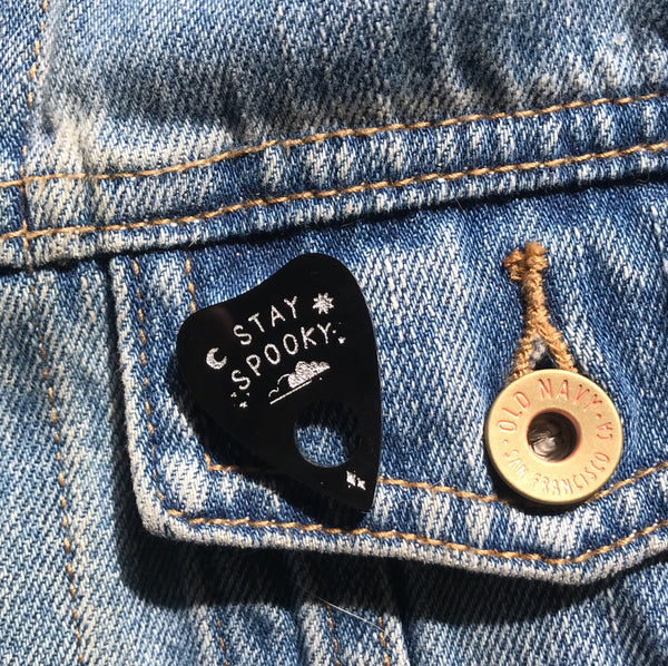 stay spooky planchette pin