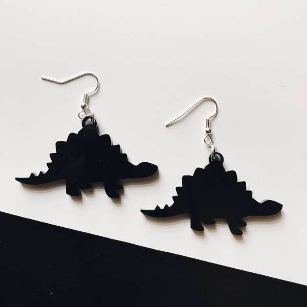 stegosaurus dinosaur earrings