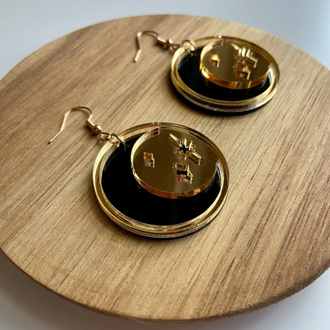 golden moon earrings