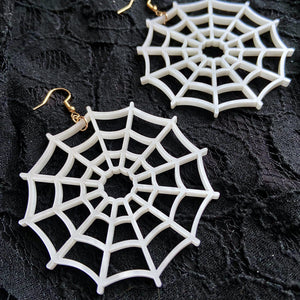 spidey-web hoop earrings