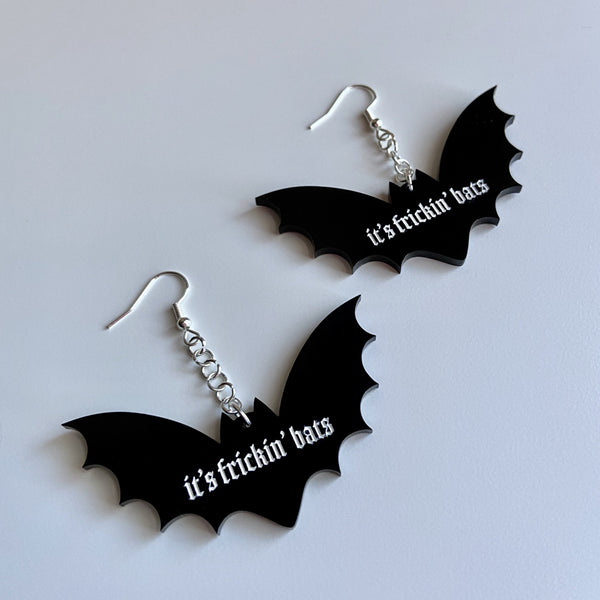 it's frickin' bats! earrings