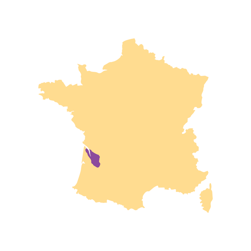 SimplyWine.com Region Map for Bordeaux, France