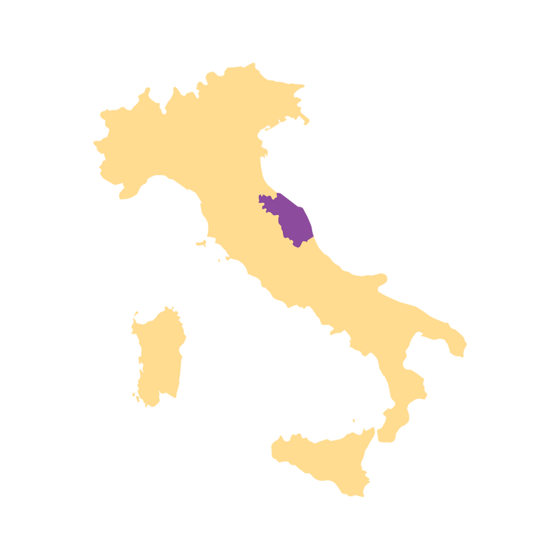 SimplyWine.com Region Map for Marche, Italy