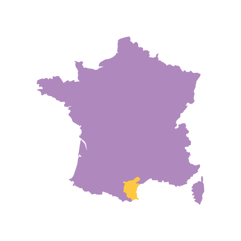 SimplyWine.com Region Map for Languedoc, France