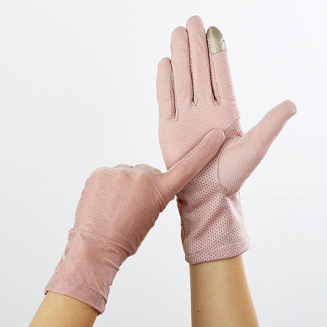 Sexy Lace Sunscreen Gloves summer Women Stretch Thin Touch Screen - Any.shopping