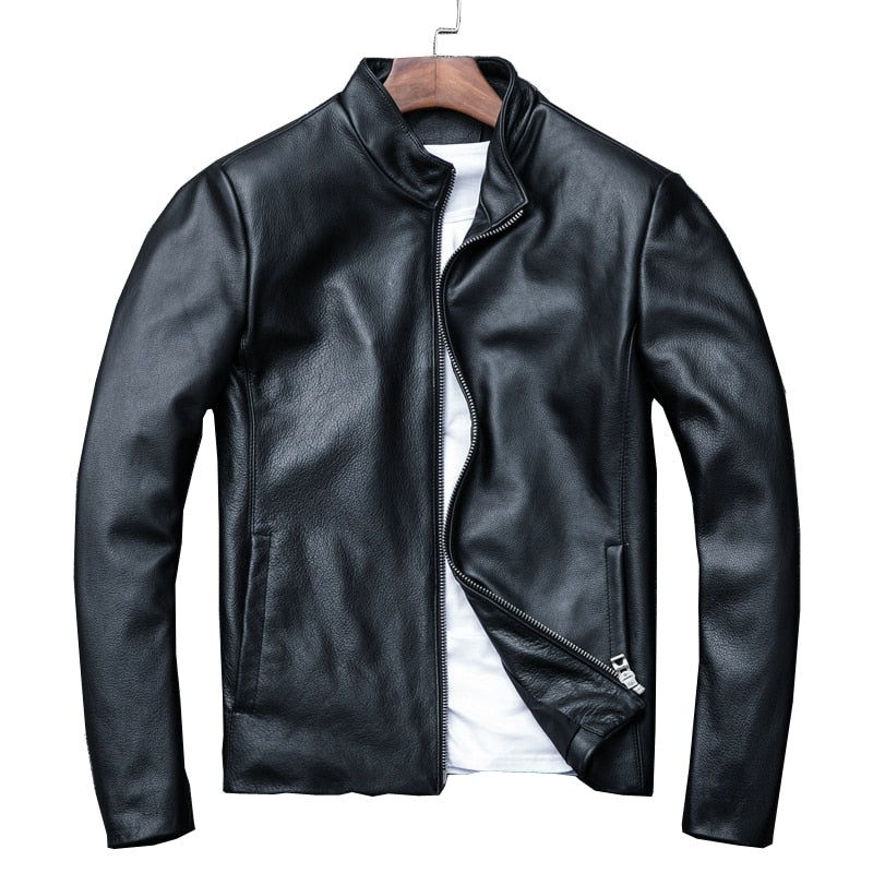 Free shipping,sale man handsome genuine leather jacket.plus size