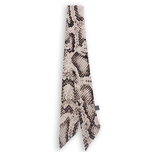2019 Leopard Snake Skin Print New Bag Skinny Silk Scarf For Women