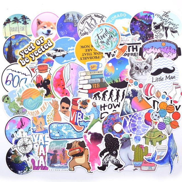 20 Style Vsco Stickers Things 50PCS Pack Cool Pink Girl Stickers