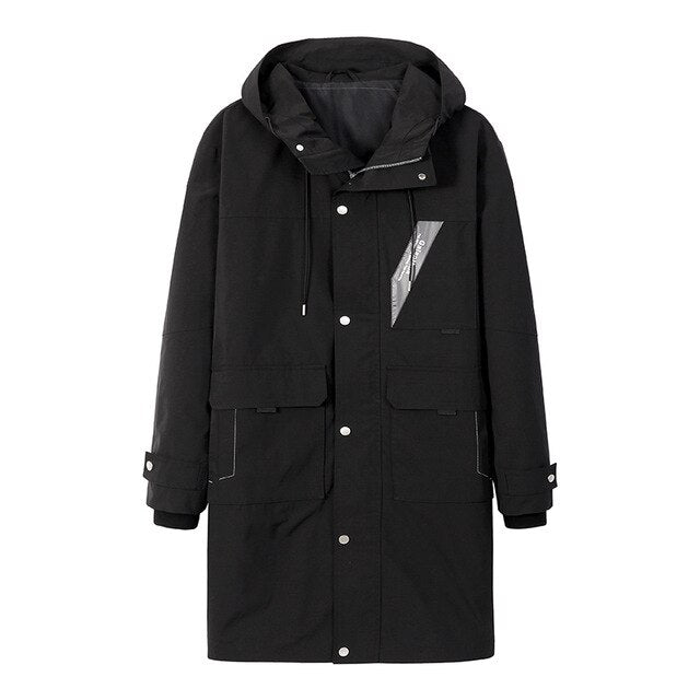 Pioneer Camp Fashion Trench Long Coat Men New Autumn