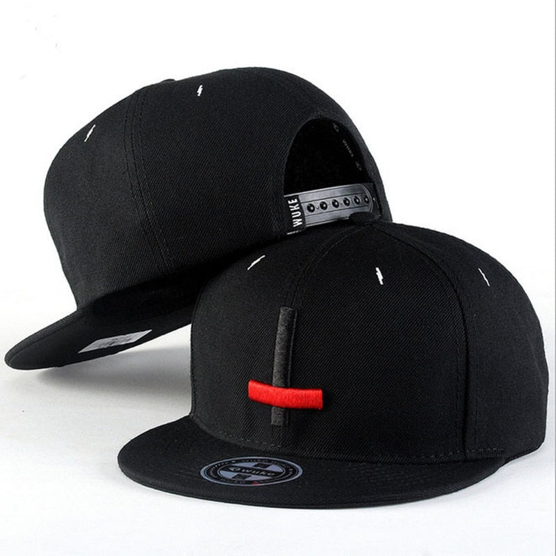 2017 New Brand Street Dance Cool Hip Hop Caps Embroidery Black Red