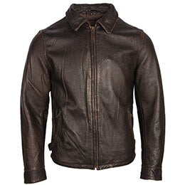 Vintage Distressed Leather Jacket For Men Leather Coat Stone Milled - Any.shopping