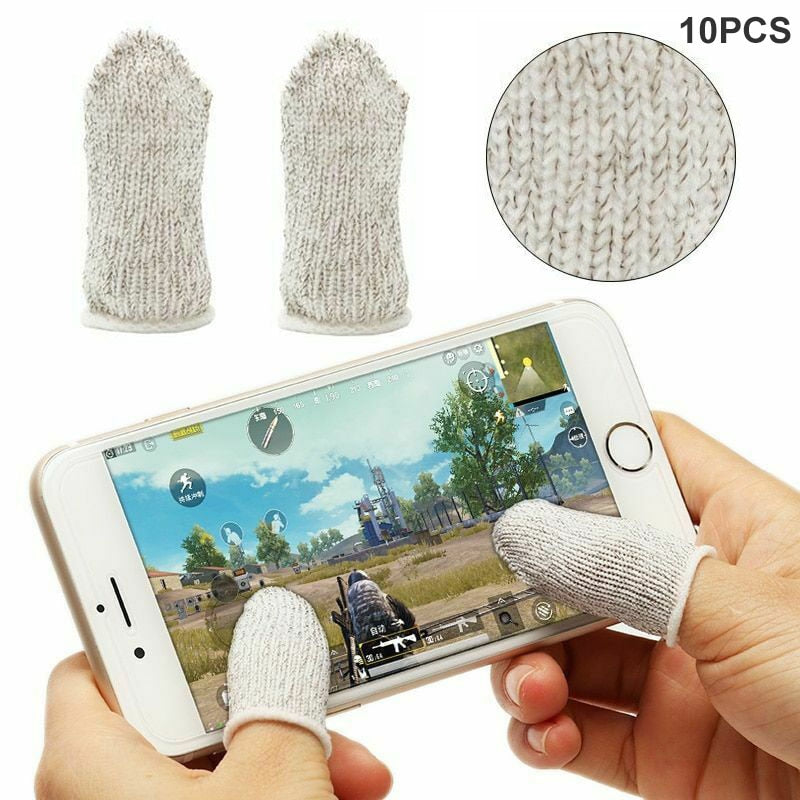 10Pcs Mobile Finger Sleeve Sensitive Game Controller Sweatproof Aim