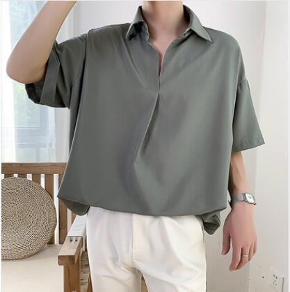 2019 Summer Men's New Pattern Short Sleeve Cool Shirt French