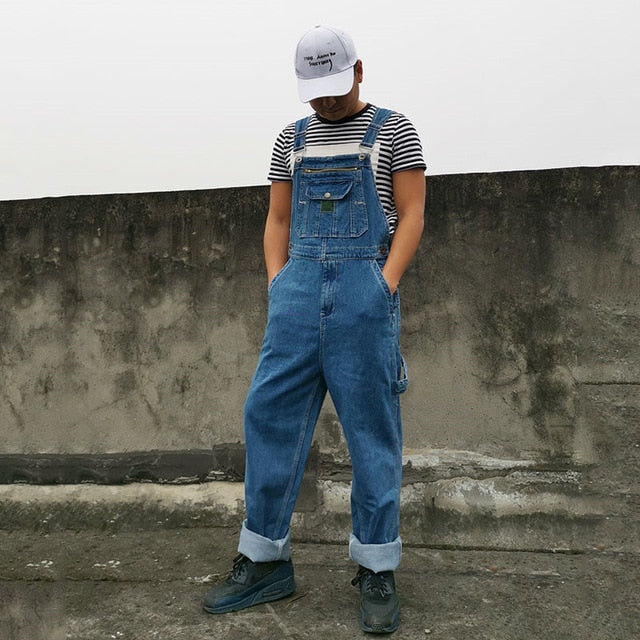 Jeans Men Men's Denim Overalls Men's Overalls Jumpsuit Large size