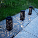 LED Outdoor Waterproof Solar Light Hollow Garden Lawn Light