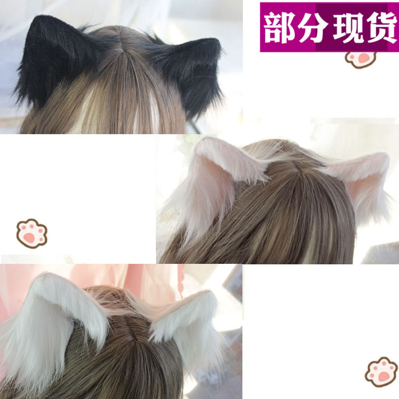 Hand-made cat ears cos simulation animal ears cat ears ear clip KC cute