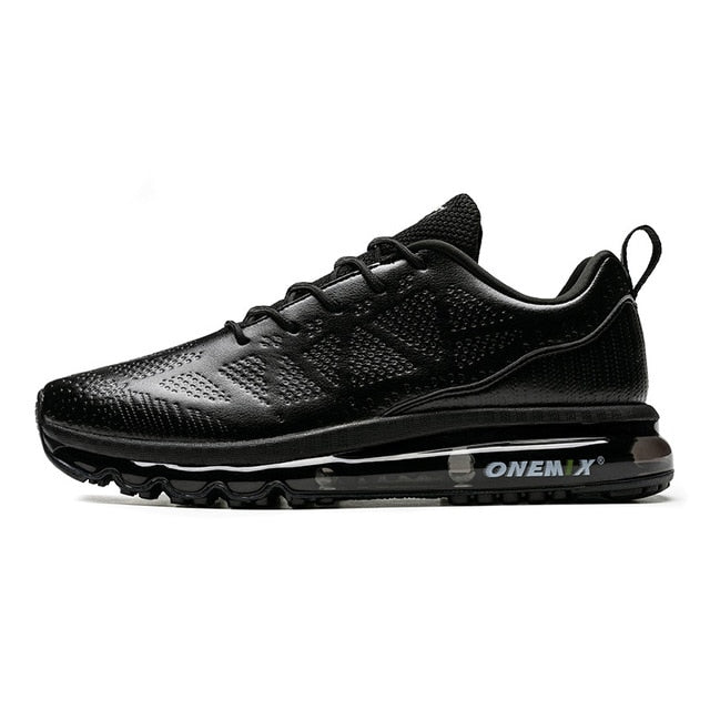 ONEMIX Men Running Shoes Waterproof Leather Outdoor Sports