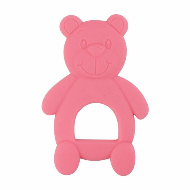 NEW Silicone Baby Teethers Cute Bear Shape Kids Teethers Safety