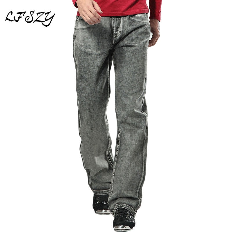 2020 Men's Brand Jeans High Quality Gray Mens Retro Baggy Jeans Hip