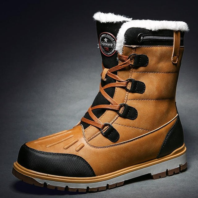 2019 Winter With Fur Snow Boots For Men Sneakers Male Shoes Adult Casual Quality Waterproof Ankle -30 Degree Celsius Warm Boots