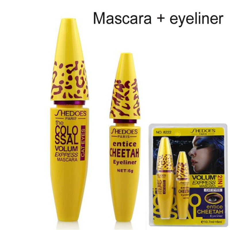 Professional 2 in 1 Eye Makeup Set Eye liner with Leopard Colossal