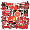 53PCS/lot Cartoon Pink INS Style Vsco Girl Stickers For Laptop Moto