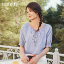 INMAN 2020 Summer New Arrival Pure Cotton Sweet Pullover Retro