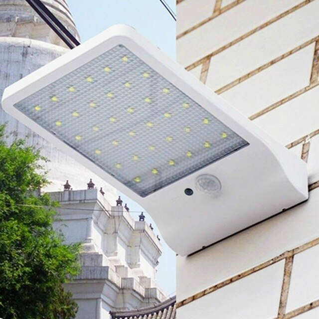 Newest 500LM 48LED Motion Solar Light PIR Sensor Lamp Outdoor