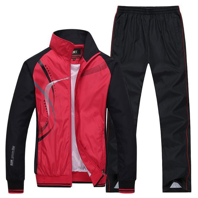 Men's Sportswear New Spring Autumn 2 Piece Sets Sports Suit - Any.shopping
