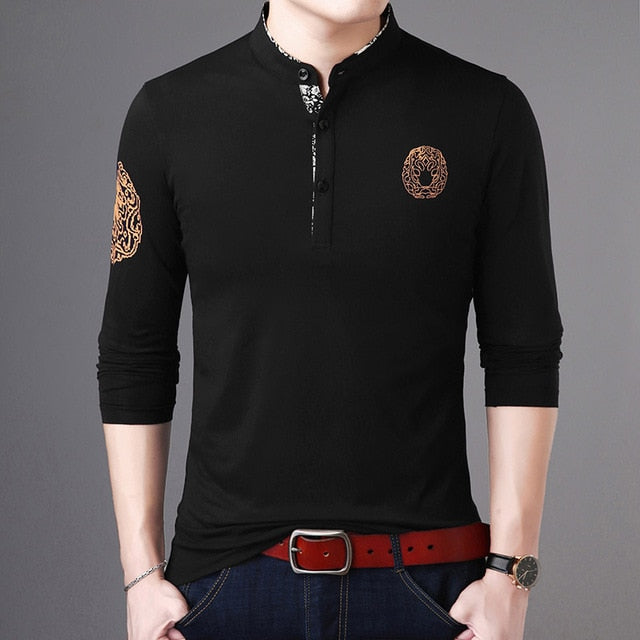 2020 New Fashion Brand Polo Shirt Mens Stand Collar Trends Tops